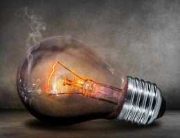 burnt out lightbulb