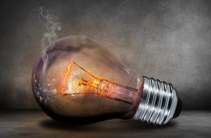 burnt out lightbulb